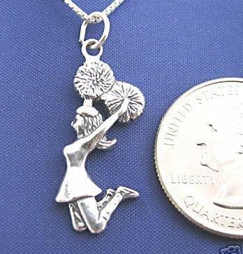 CHEERLEADER 16 Inch Necklace Pendant 925 Silver Sport N35 Bonanza