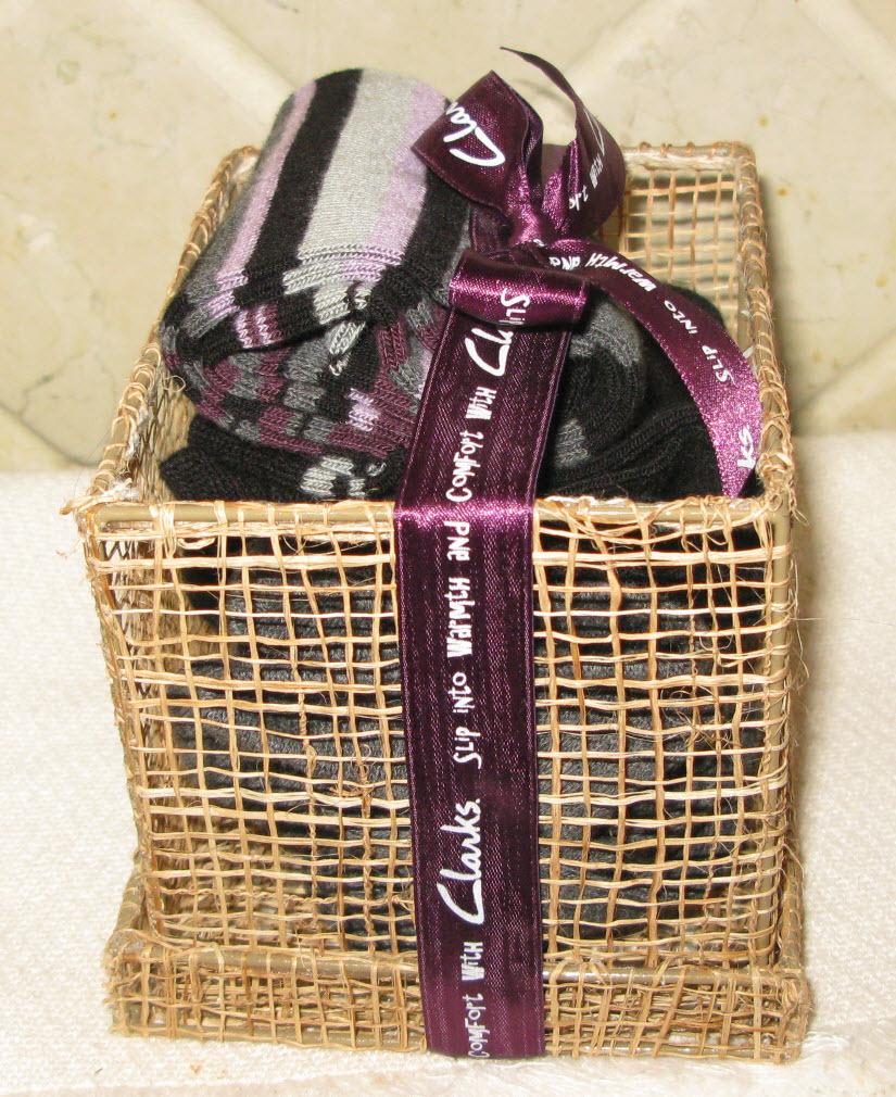 Clarks Gift Basket of Three Ladies Socks NEW with tags Bonanza