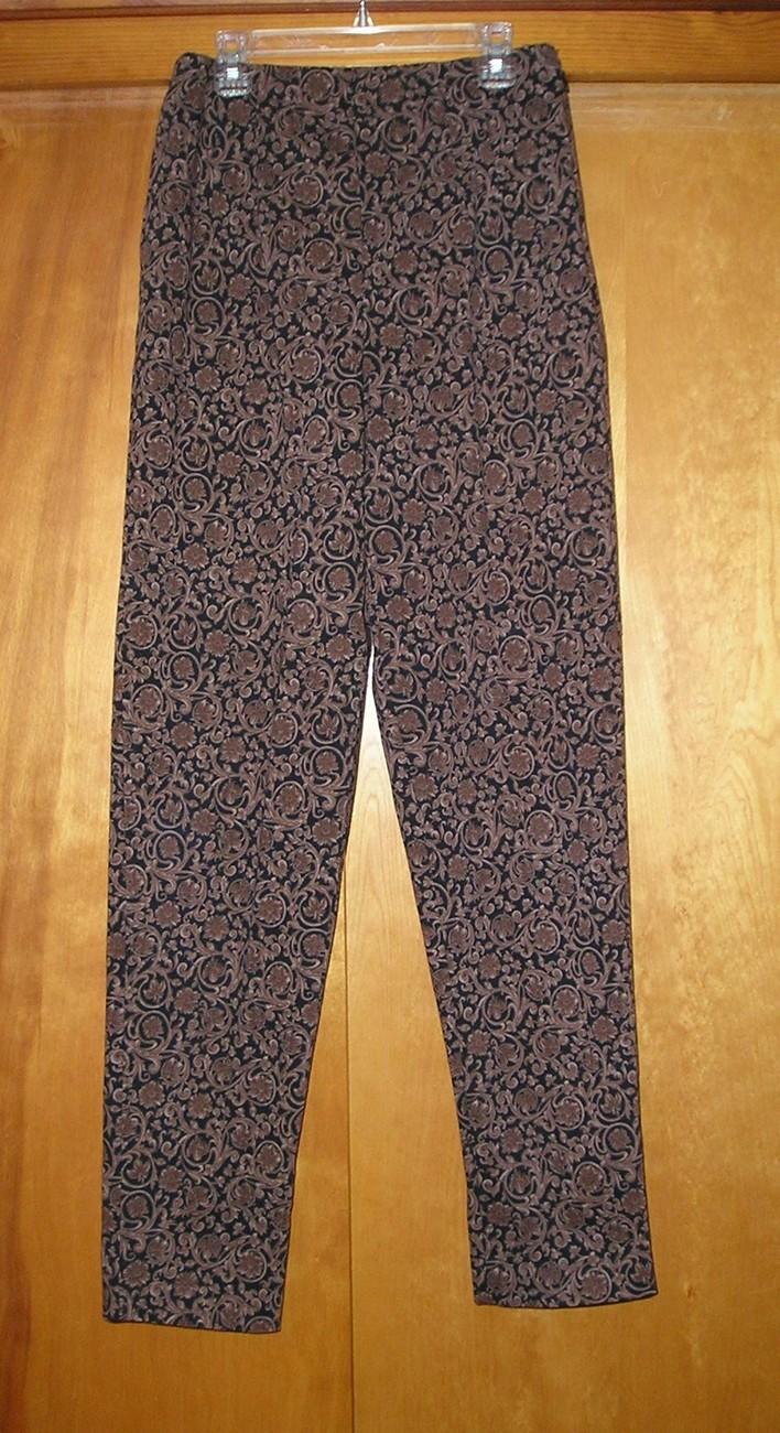 CENTRAL FALLS Women's Brown/Black Pants M (Medium) / 6 - 8 Bonanza