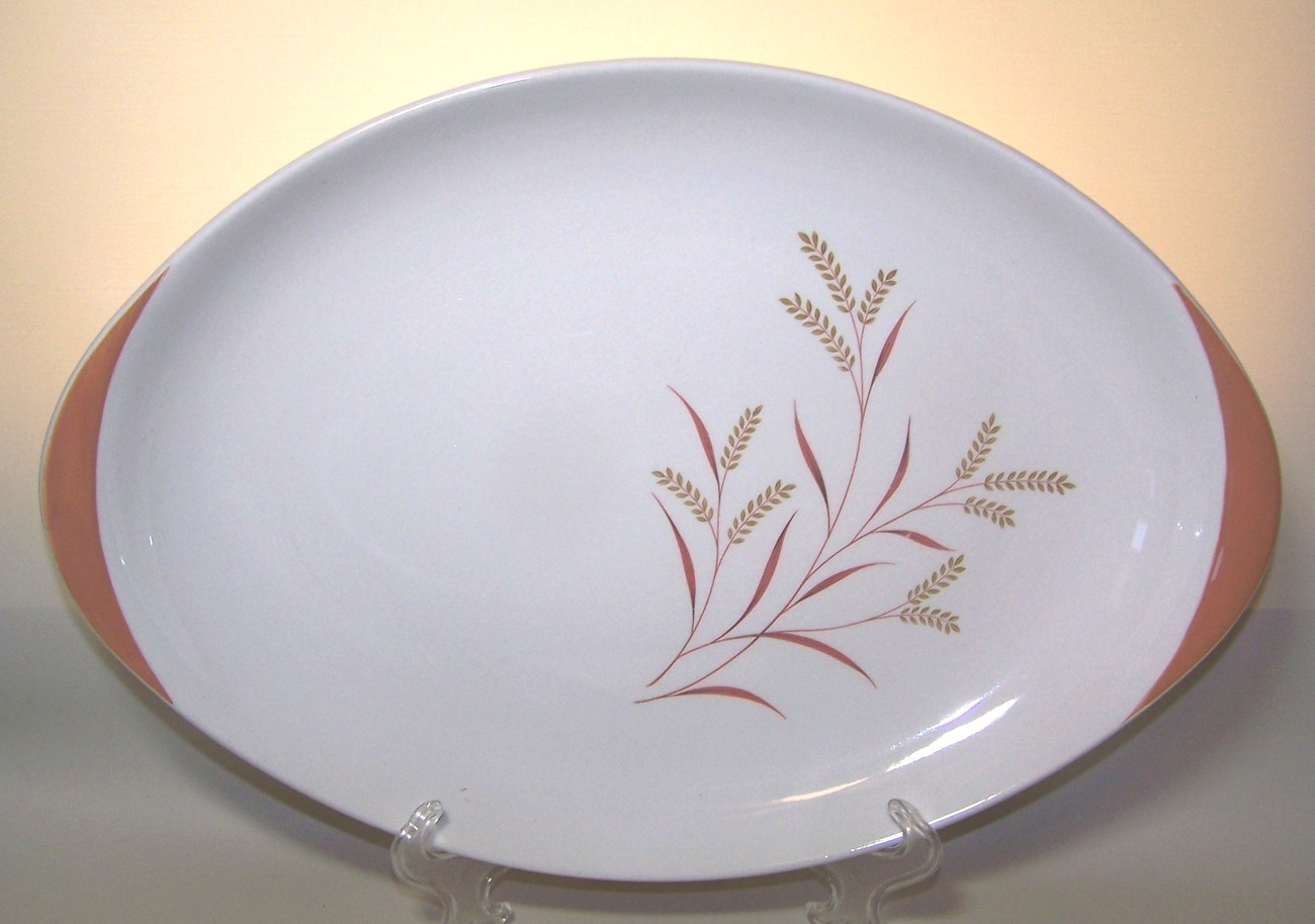 Royal Doulton Oval Serving Platter Meadow Glow Mid Century