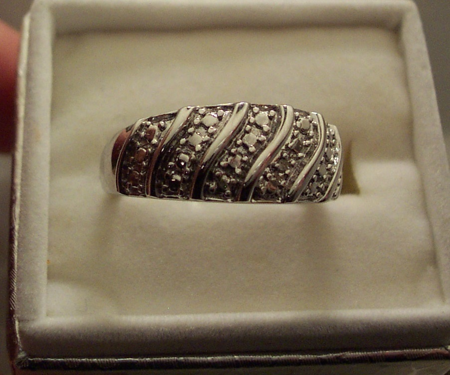 Diamond Swirl Ring in Sterling Silver Bonanza