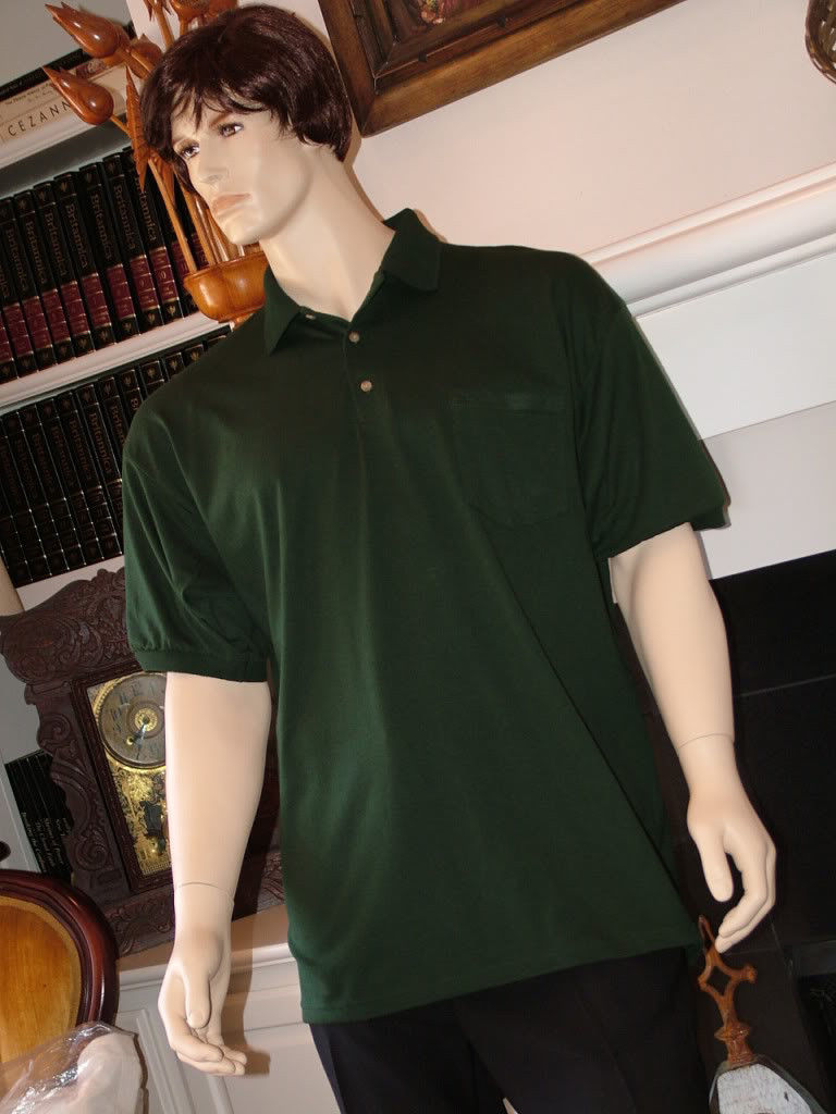 Image 3 of Pocket Polo Golf Shirt Hanes Stedman 0504, Adult Hot Sports Colors Cotton Blend