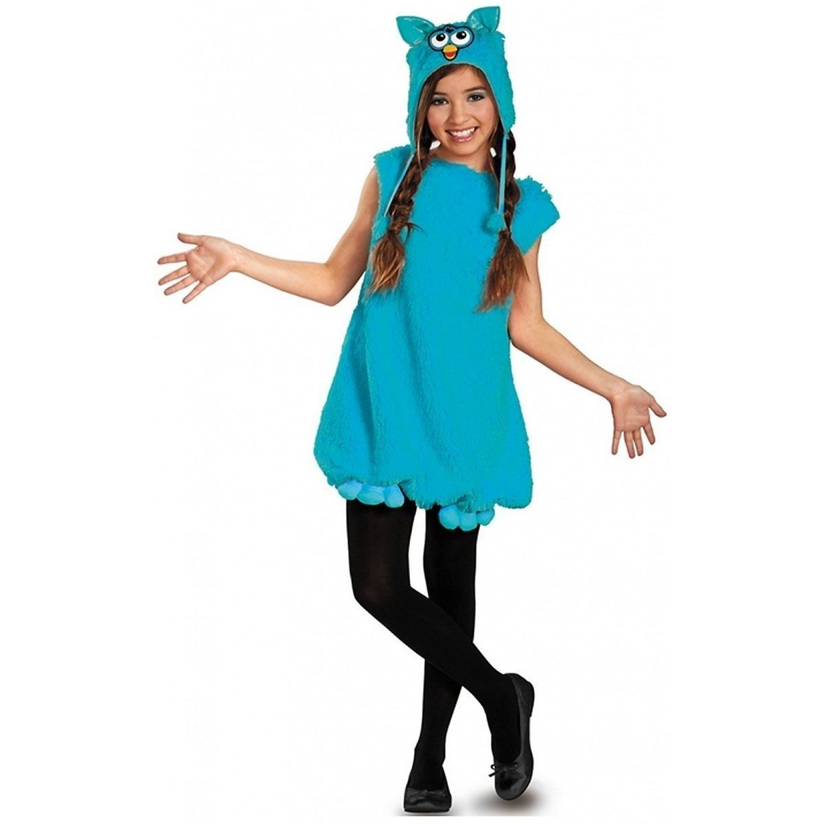 Fun Teal Voodoo Furby Deluxe Trendy Tween Costume by Disguise - Teal Blue - Poly