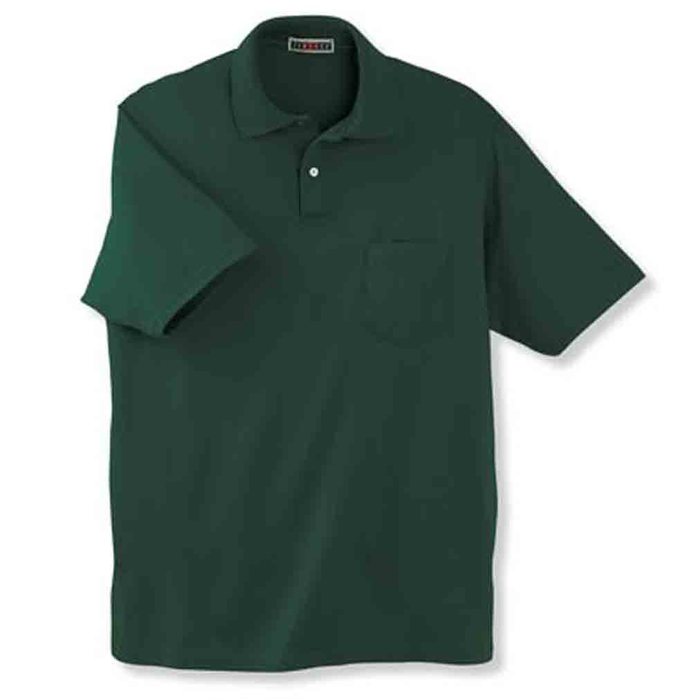 Image 1 of Pocket Polo Golf Shirt Jerzees 436MP, Adult, Hot Sports Colors, Cotton Blend - B
