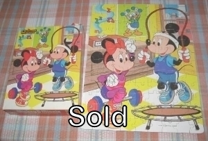 1986 Disney Mickey and Minnie 100 Piece Golden Puzzle