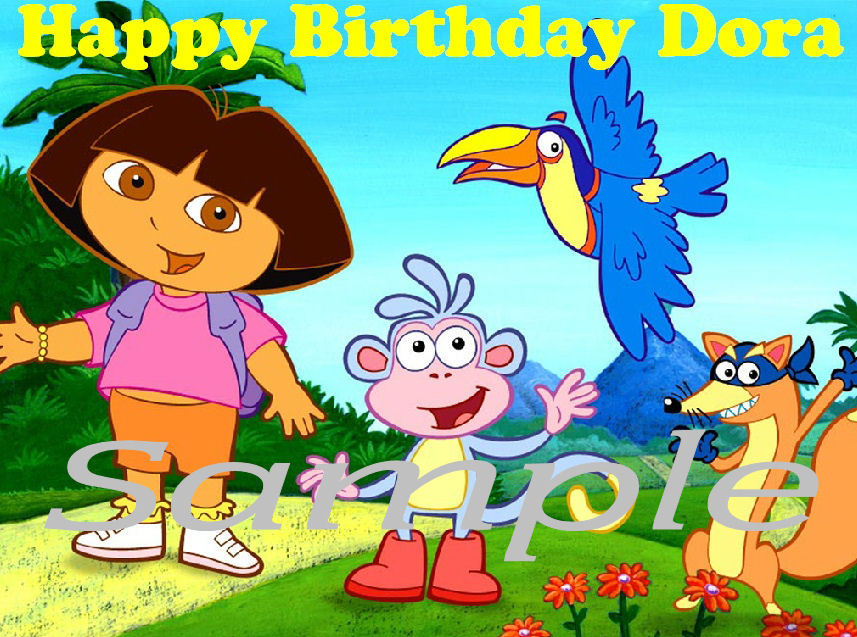Dora The Explorer Edible Cake Topper: 1 listing - Bonanza