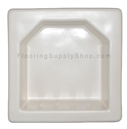 Porcelain Hotel Mini Soap Dish 6x6 White Matte Bonanza