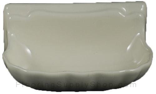 Porcelain Soap Dish  Shell Small - Bone Almond Glossy Bonanza