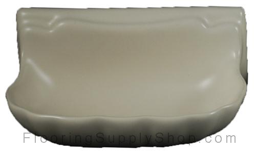 Porcelain Soap Dish  Shell Small - Bone Almond Matte Bonanza
