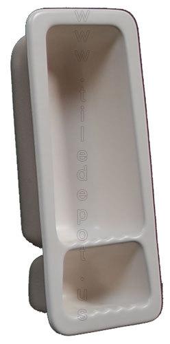 Recessed Shampoo - Soap Porcelain White Matte Small Bonanza