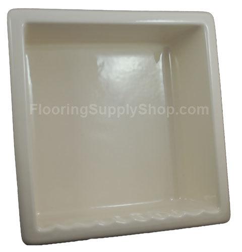 Recessed Shampoo - Square Porcelain Biscuit Bonanza