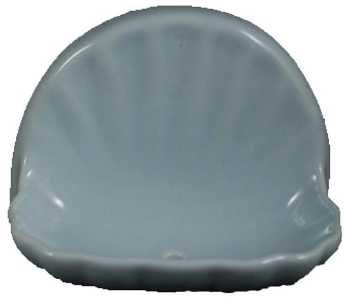 Ceramic Glaze Soap Dish Shell Glossy Sky Blue Bonanza