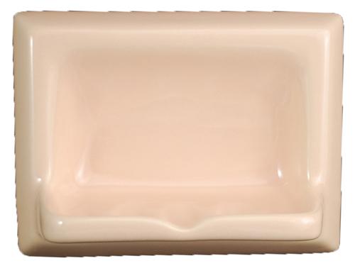 Ceramic Glaze Soap Dish Glossy Peach Bonanza