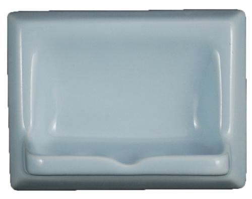 Ceramic Glaze Soap Dish Glossy Sky Blue Bonanza