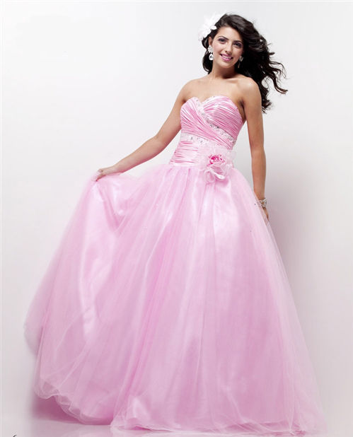 Image 0 of Sexy Strapless Cinderella Posh Pink Dreamz/Riva 793 Prom Evening Gown 12, 18