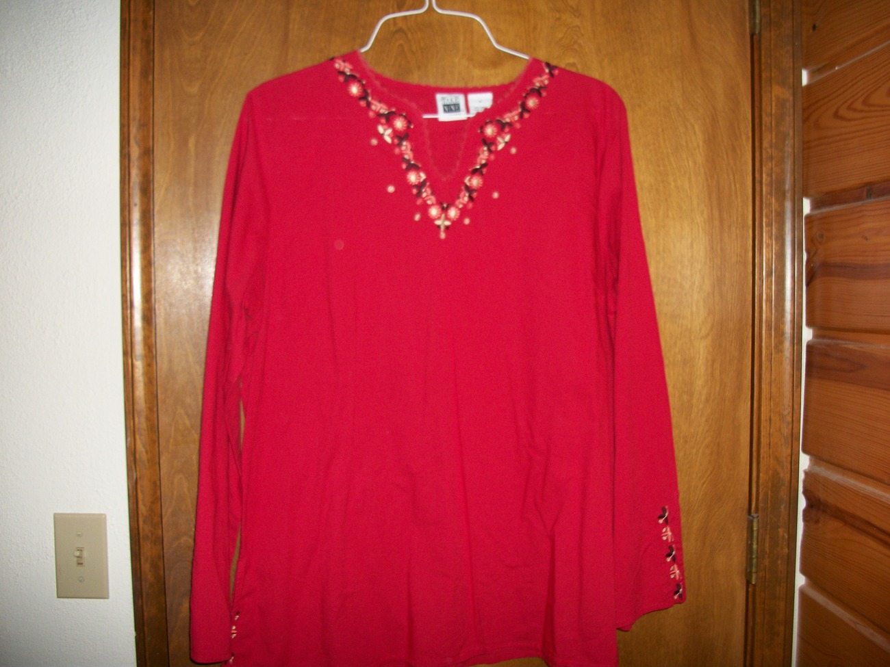 Take Nine Maternity Red Long Sleeve Top Sz XL Take Nine Maternity
