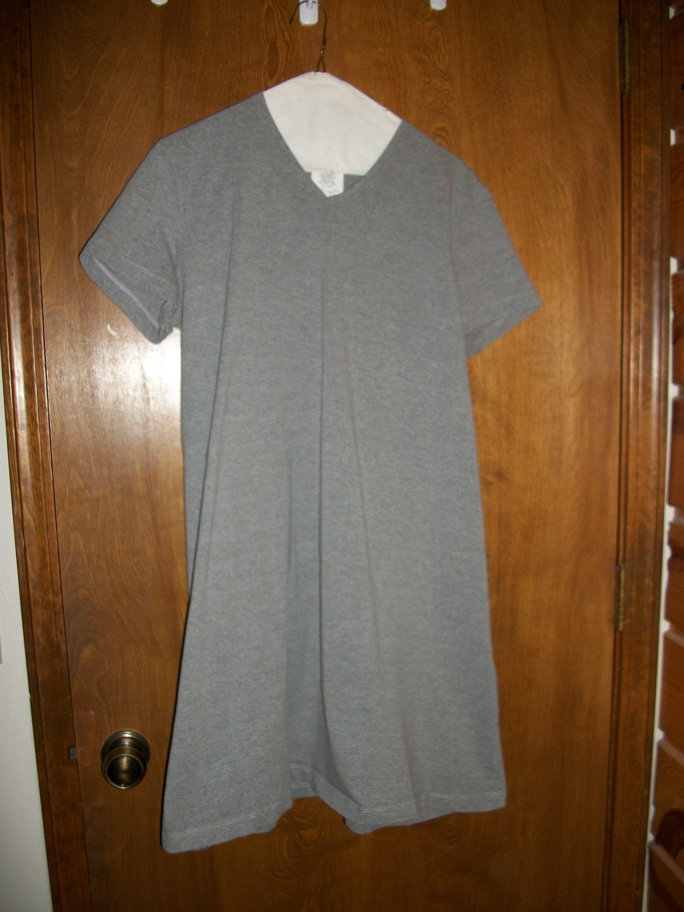 Preowned Motherhood Maternity Gray Shirt Dress Size Large Motherhood