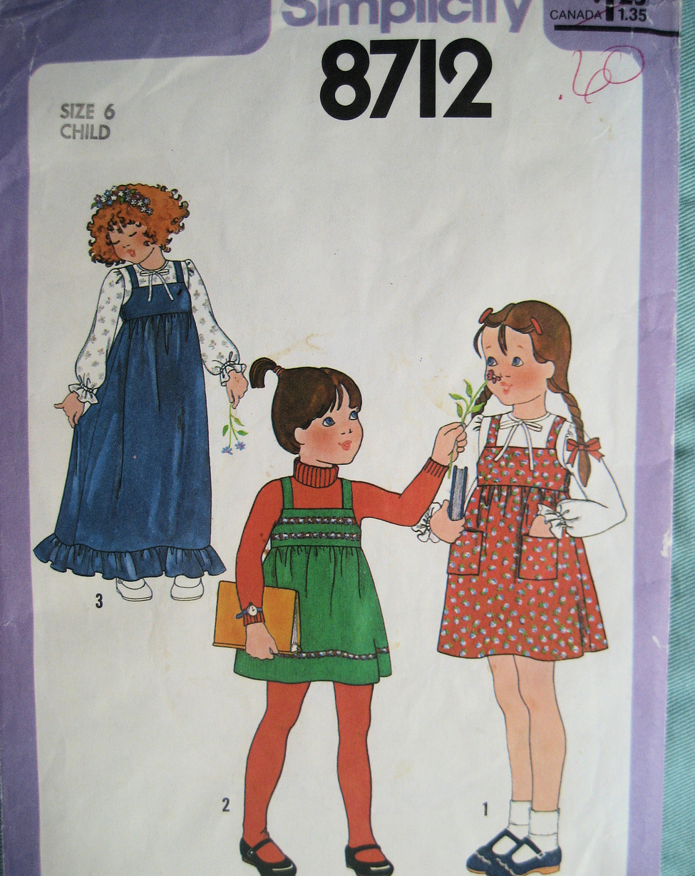 Vintage 80s Pattern Girls Size 6  Jumper Blouse S8712 Simplicity New Look