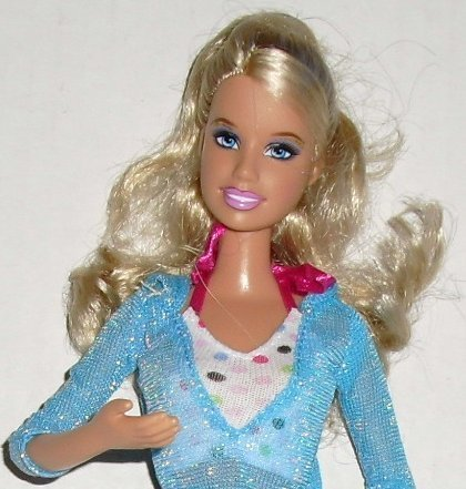 BARBIE Doll Blonde hair dressed bent arms Mattel