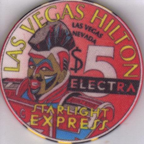 $5 STARLIGHT EXPRESS: ELECTRA Hilton Las Vegas Casino Chip Bonanza