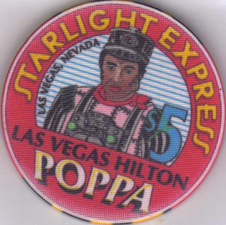 $5 STARLIGHT EXPRESS: POPPA Hilton Casino Chip Bonanza