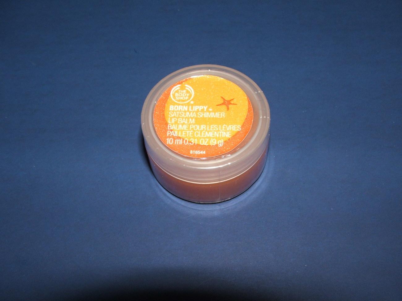 The Body Shop Satsuma Shimmer Lip Balm  .31oz Bonanza