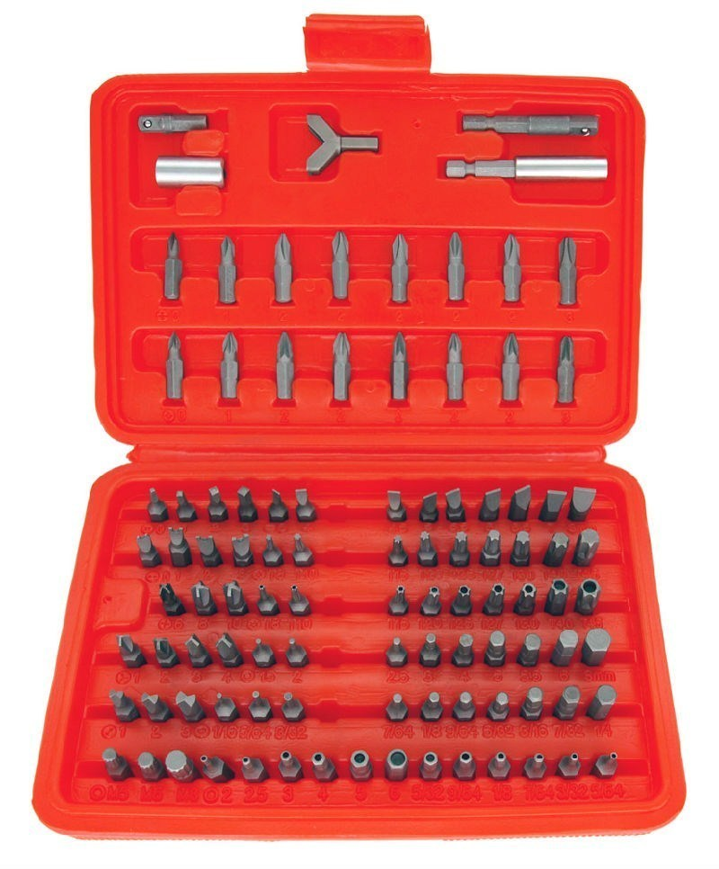 100 pc security bit set screwdriver tamper proof screw screwdrivers nutdrivers. Black Bedroom Furniture Sets. Home Design Ideas