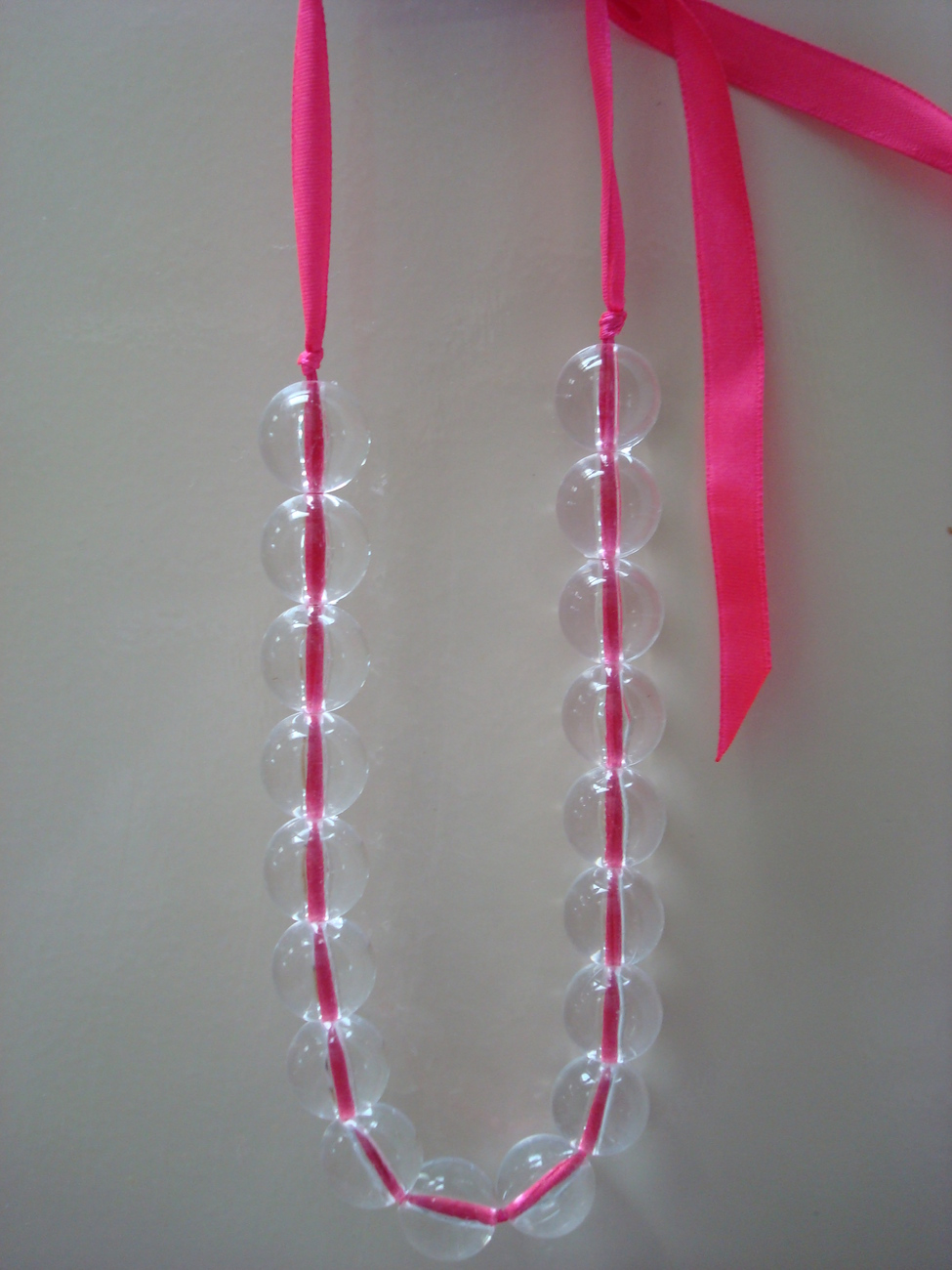 clear beaded necklace.. free shipping Bonanza