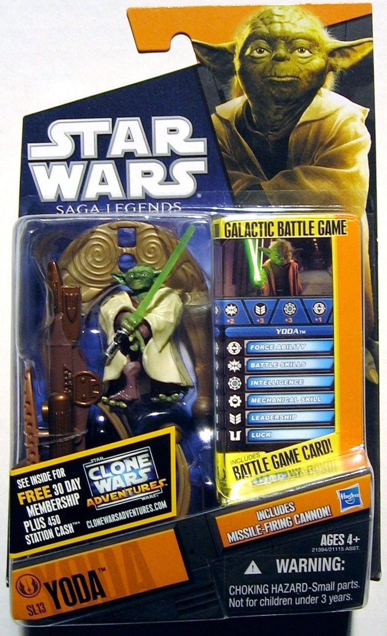 Star Wars Saga Legends Jedi Master Yoda SL13 figure Galactic Battle