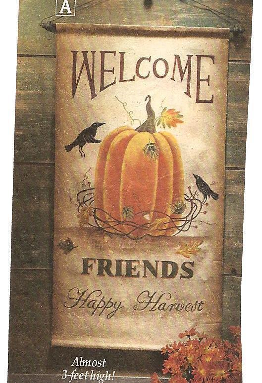 Harvest Welcome Canvas Wall Hanging