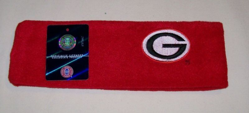 Georgia Bulldogs Red Fleece Headband NWT Bonanza