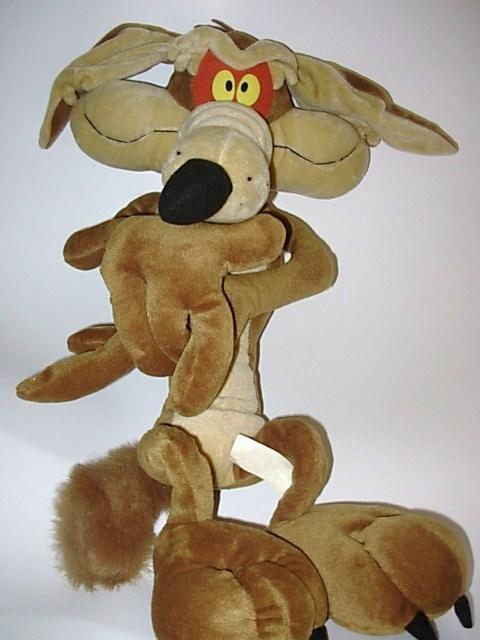 Looney Tunes Wile E Coyote Large Plush Doll Stuffed Animal
