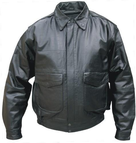 Mens Leather Bomber Motorcycle Biker Jacket S-3X Allstate Leather