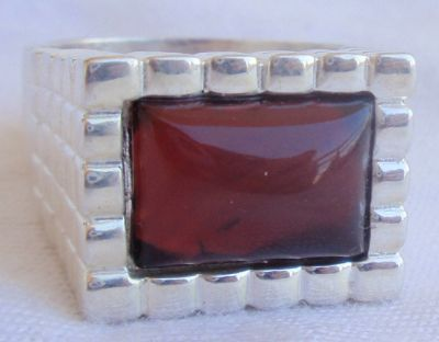 Red agate ring for man Bonanza