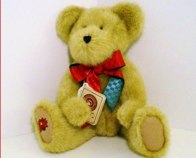Miss Poinsley Christmas Boyds Bear QVC exclusive 2002