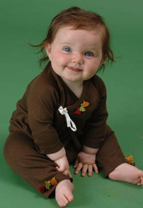 Image 5 of Soft So Cute Chocolate & Orange Sckoon Organic Cotton Kabuki Infant Wear - Kimon
