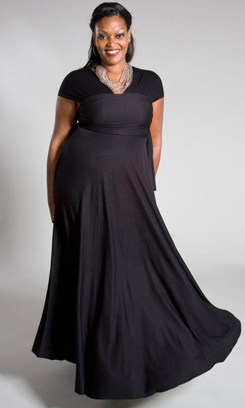 Image 2 of SWAK Designs Sexy Black Eternity Wrap Maxi Dress, Versatile Party Festive Fun -