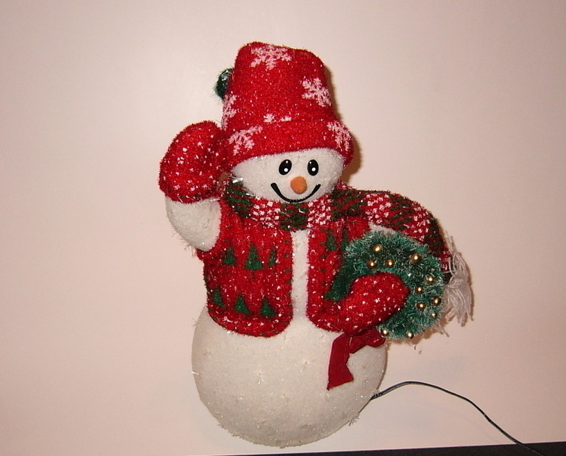 Fiber Optic Snowman Avon