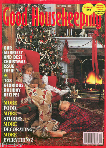 Good housekeeping december 1993 gingerbread house plans for Good house magazine