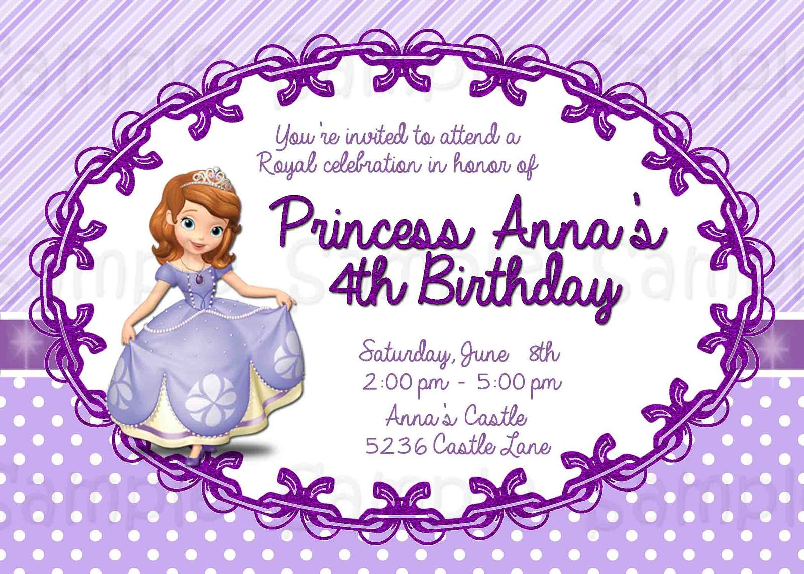Sofia The First Birthday Party Invitations for your inspiration to make invitation template look beautiful