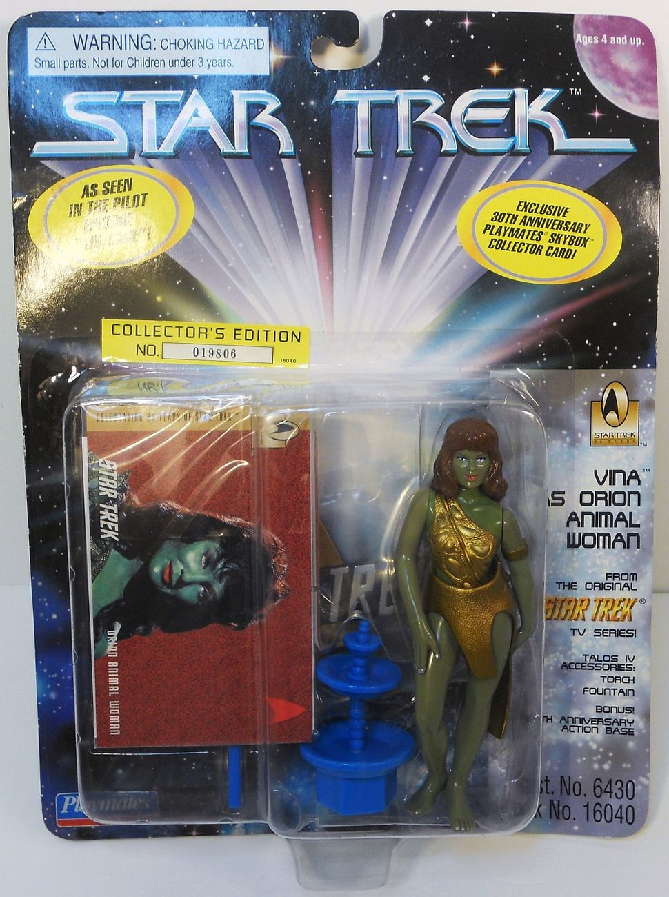 Image 1 of Star Trek TOS Vina as the Orion Girl The Cage Playmates 1996