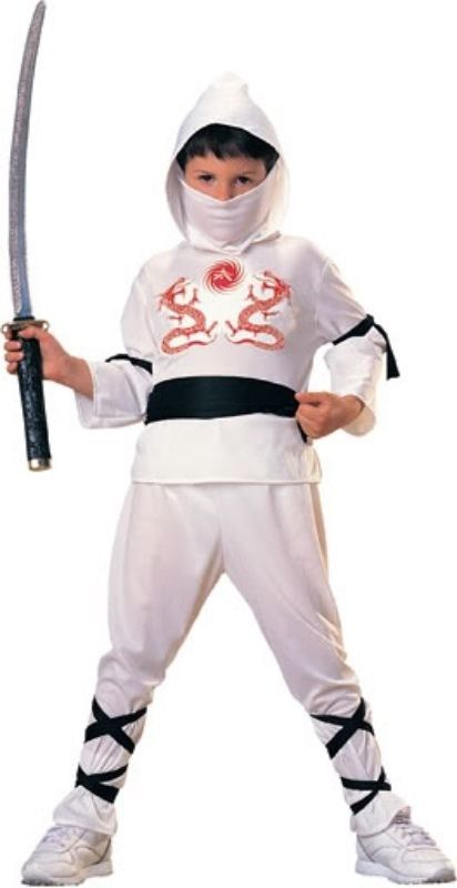 Image 1 of Rubies Brave Red Skull Ninja Super Hero Costume w/Waist Sash - Red