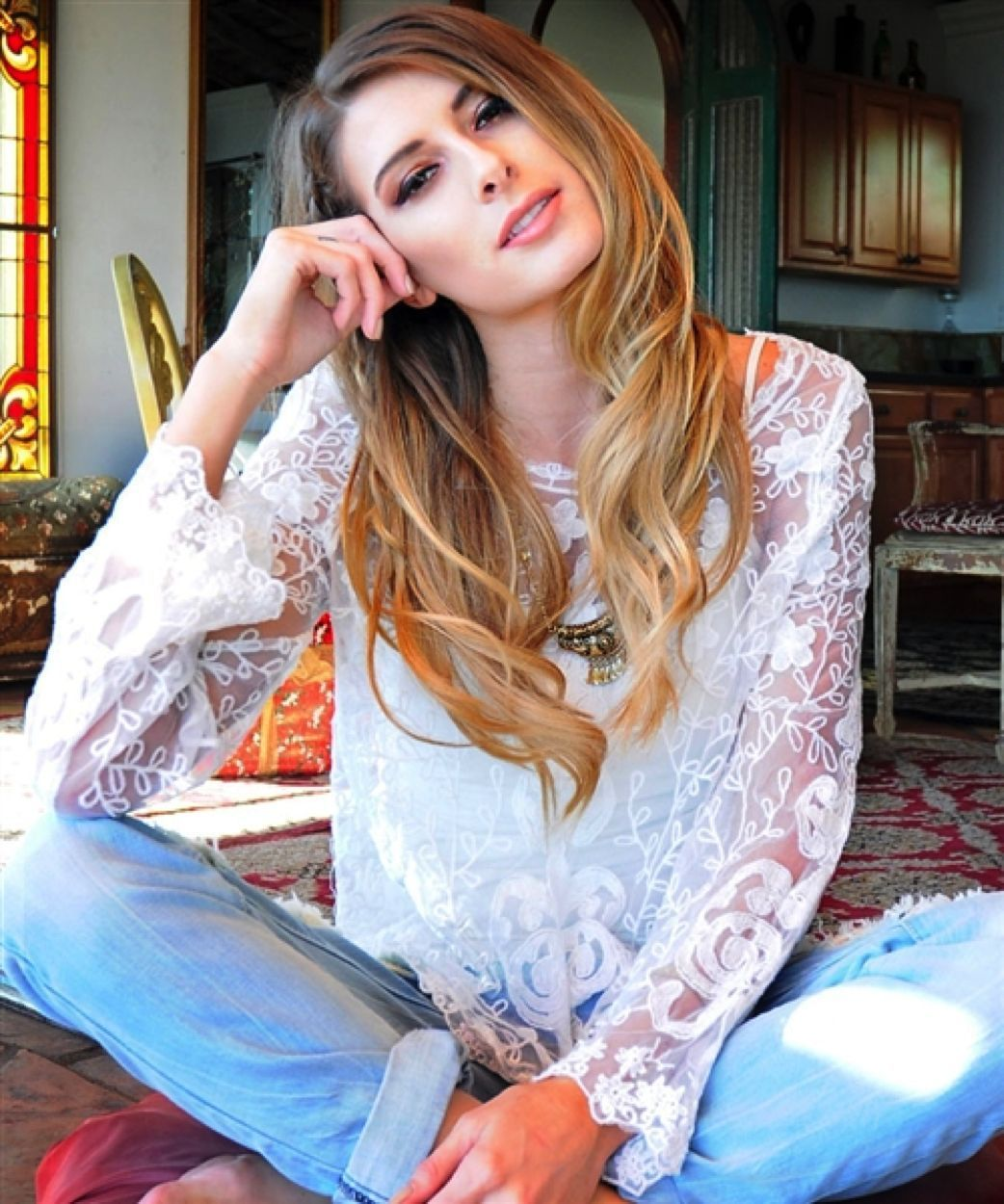 Image 3 of Romantic Sexy Boho Lace Jrs Tunic in White or Black, Party or Casual Dress-up -