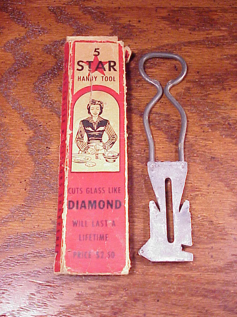 Vintage 5 Star Handy Tool with box, Knife Sharpener, Glass Cutter, Bottle Opener