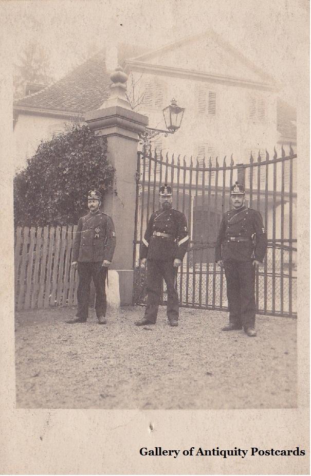 RARE Switzerland, Barr Swiss Military Officer Portrait Postcard c1910 RPPC)