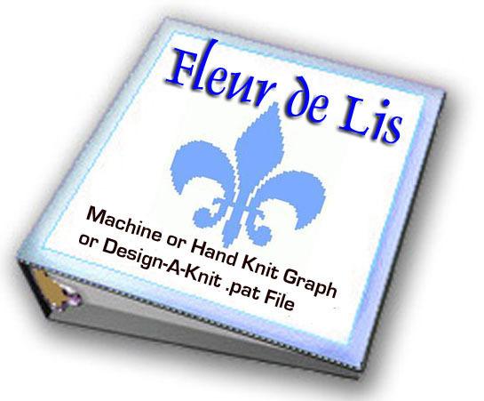 Fleur de Lis Hand Knit Graph or Machine Knit Design-A-Knit ePattern - Religio...