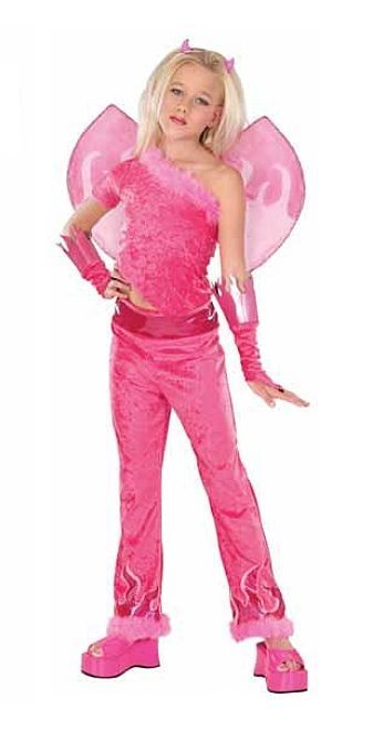 Image 0 of Hot Pink Fuchsia Devilicious Diva Princess Dress-up Maribou Trim Costume w/Wings