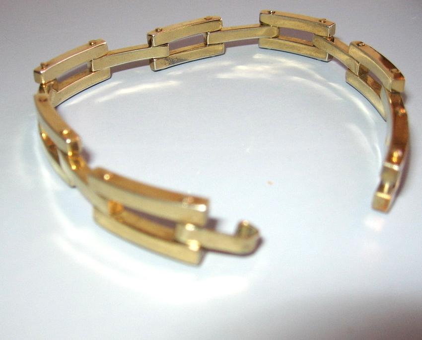 Mens Unisex Vintage Gold Vermiel Box Link Bracelet 8