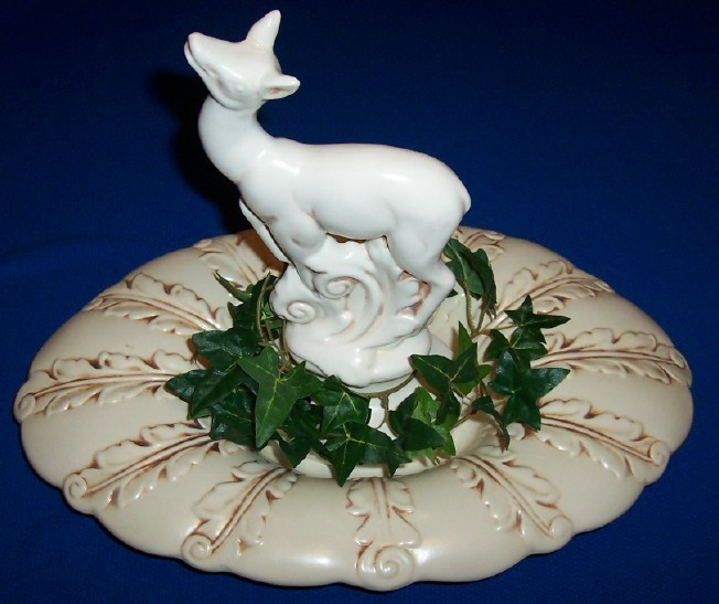 Red wing deer flower frog bowl centerpiece other