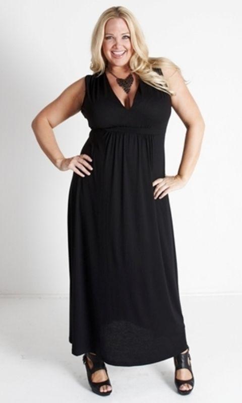 Image 0 of Sexy SWAK Designs Black Plus Size Bonnie Maxi Dress, Party Glamorous - Black